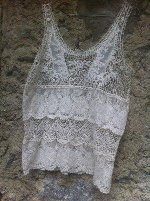ungetragen Spitzen Hemdchen, 40-42, transparent