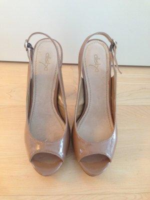 Alisha Hoge hakken sandalen nude