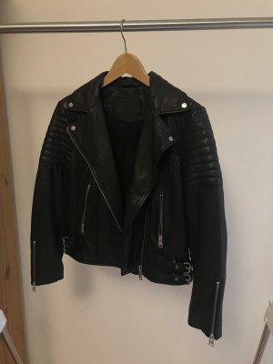 All Saints Leather Jacket black leather