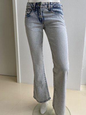 Blind Date Boot Cut Jeans cornflower blue-natural white cotton