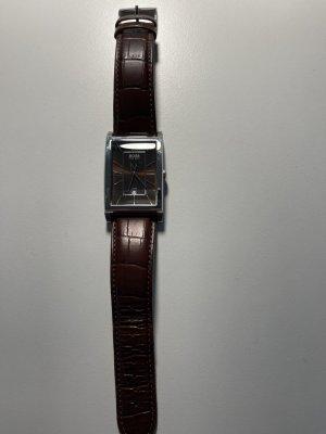 Ungetragene Boss Armbanduhr aus echtem Leder