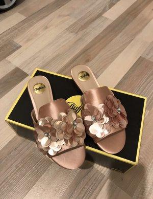 Buffalo Sandalias para uso en exteriores color rosa dorado-rosa
