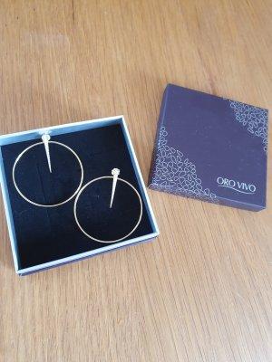 Oro Vivo Creolen goud-wit