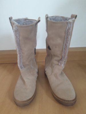 Tamaris Fur Boots light grey-oatmeal