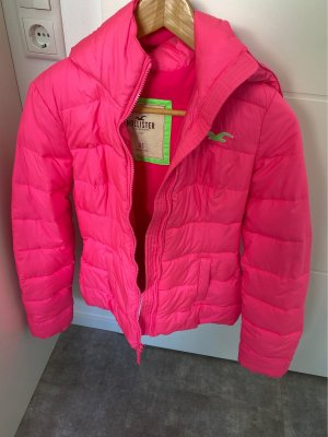 Hollister Kurtka zimowa różowy neonowy