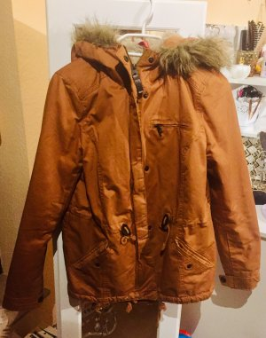 H&M Chaqueta de piel sintética marrón claro-color bronce