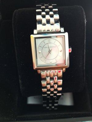 Karl Lagerfeld Montre avec bracelet métallique argenté