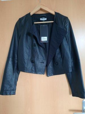 Marcel Ostertag Leather Jacket black