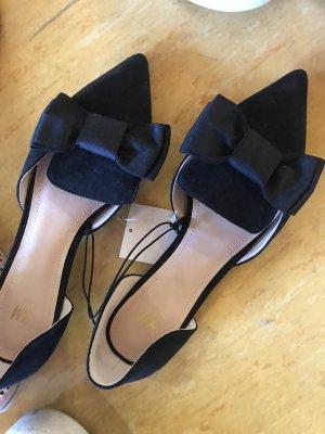 Ungetragene loafer / Ballerina in schwarz
