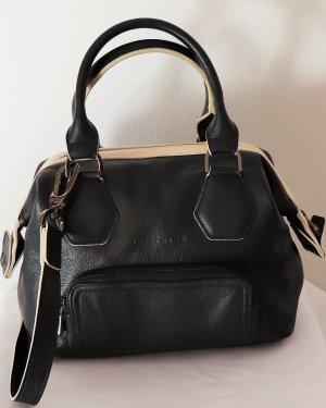 Longchamp Crossbody bag black-natural white leather