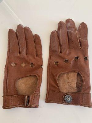 Freeman t. porter Rękawiczki skórzane brązowy-cognac