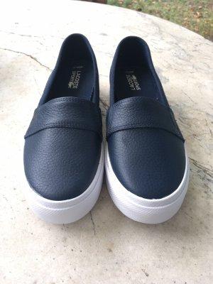 Lacoste Zapatos de marinero azul oscuro-blanco