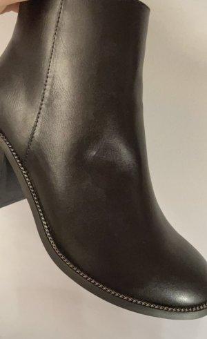 ASOS DESIGN Buty z krótką cholewką na platformie czarny-srebrny