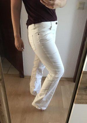 Tommy Hilfiger Jeans a zampa d'elefante bianco Tessuto misto