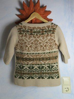 Odd Molly Cardigan à manches courtes multicolore laine mérinos