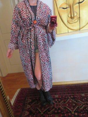 Vintage Abrigo ancho multicolor Seda
