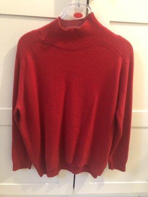 Marie Lund Wełniany sweter czerwony