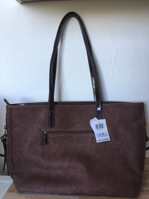 Aprico Borsa shopper marrone-nero-marrone scuro