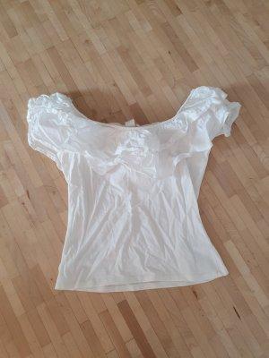 Ungetragenes Carmenshirt mit Rüschen, Gr. S, H&M