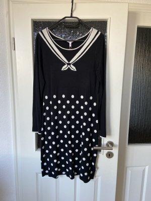 Blutsgeschwister Longsleeve Dress black-white