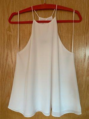 Ungetragenes Neckholdertop von Zara in weiß