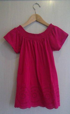 Hallhuber Carmen Shirt raspberry-red cotton