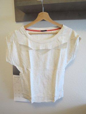 ungetragenes T-Shirt von IKKS beige Baumwolle wie neu Damen 36 S