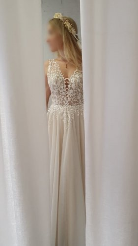 Wedding Dress multicolored lace