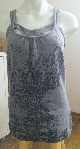 Desigual Camiseta sin mangas lila grisáceo Algodón