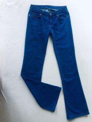 Second Female Pantalone a zampa d'elefante blu acciaio