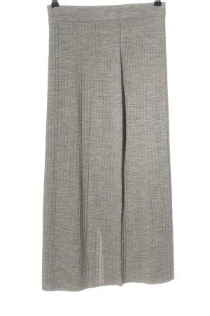 UNI QLO Jupe tricotée gris clair moucheté style décontracté