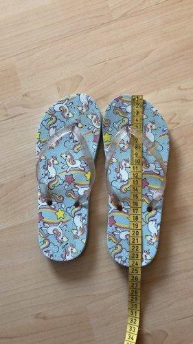 unicorn Toe-Post sandals light blue