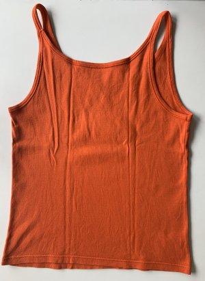 Unifarbenes Top in Orange