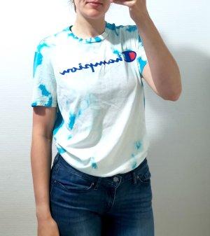 Champion T-shirt celeste-bianco