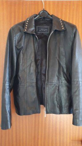 Julia S. Roma Leather Jacket black leather