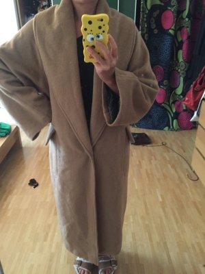 Unikat: DIY Mantel Coat Oversized Boyfriend Kamelhaar-Optik Gr. 38
