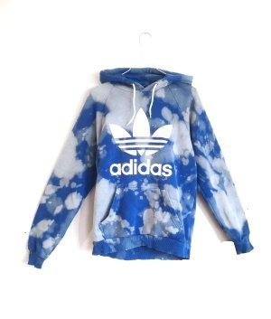 Unikat Drop Tie Dye Adidas Hoodie Gr. S Blau Wölkchen