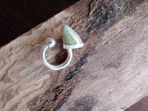 Anello d'argento verde chiaro Argento