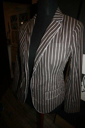 Blazer de esmoquin negro-color plata