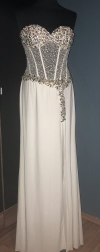 Corsage Dress natural white polyester