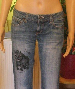 Only Low Rise Jeans steel blue-cornflower blue mixture fibre