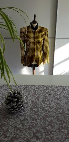 Wool Blazer black-yellow wool