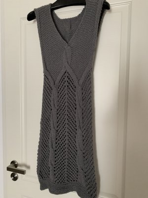 Unikat, Strickkleid, grau, Handmade
