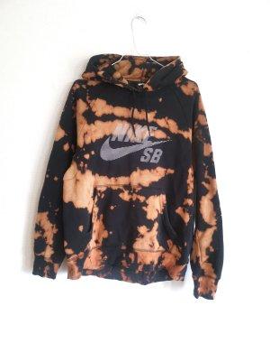 Unikat Tie Dye Nike Hoodie Gr. M Schwarz Batik