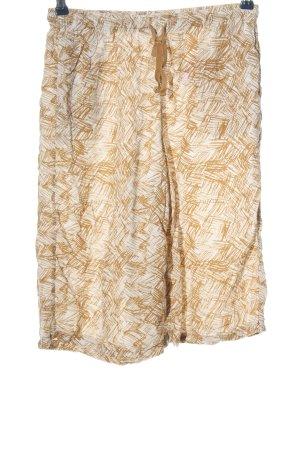 Uniqlo Pantalone a 3/4 arancione chiaro-bianco stampa integrale stile casual