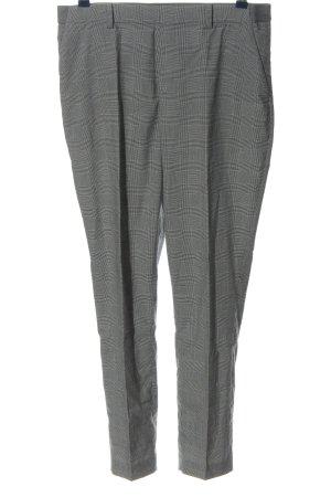 Uniqlo Pantalon 7/8 gris clair-blanc motif à carreaux style d'affaires