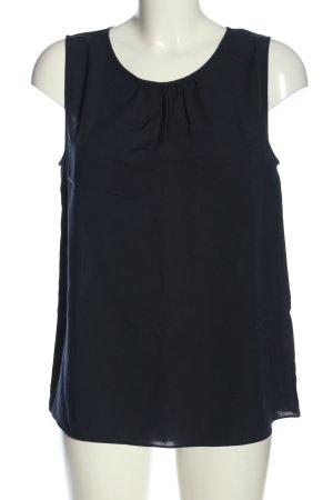 Uniqlo ärmellose Bluse blau Business-Look