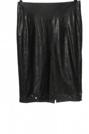 Uniqlo and Carine Roitfeld Faux Leather Skirt black elegant