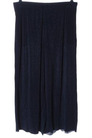 Uniqlo Baggy Pants blau Streifenmuster Casual-Look