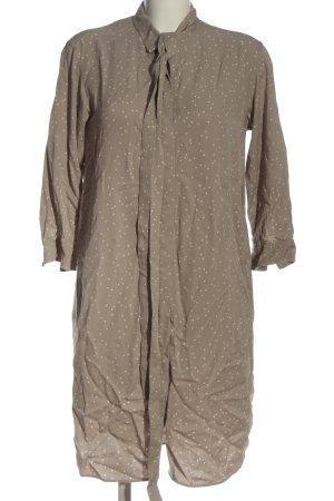 Uniqlo Blusenkleid braun-wollweiß Punktemuster Casual-Look